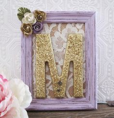 Letter M Nursery Decor Baby Girl Nursery Art by SeaLoveAndSalt, $45.00