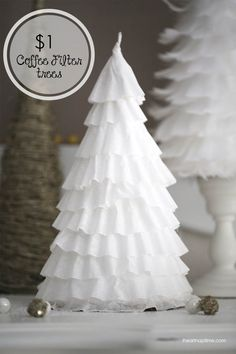 DIY coffee filter trees on iheartnaptime.net ...make these for less than a buck! #Christmas #crafts
