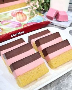 Puding Cake, Resep Cake, Yummy Snacks, Snack Recipes, Cooking Recipes, Breakfast Recipes, Pudding Desserts, Oreo Pudding, Dessert Boxes