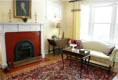 fireplaces that are painted red - Google Search