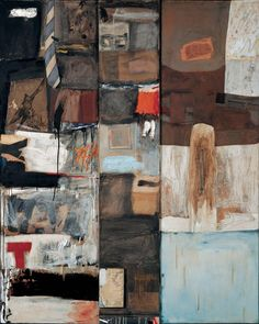 "thunderstruck9:  "" Robert Rauschenberg (American, 1925-2008), Summerstorm, 1959. Oil, graphite, paper, printed reproductions, wood, fabric, necktie, and metal zipper on canvas, 79 x 63 x 2 ½ in.  """