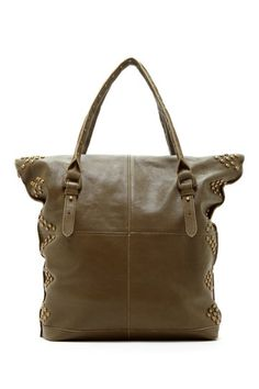 Isabella Fiore Post Vintage Yasmin Studded Tote in Olive