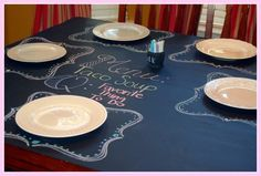 blackboard table to make mealtimes extra fun!