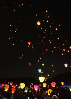 Paper Lanterns released during the first full moon in the Lunar New Year, in South Korea. Inspiring.