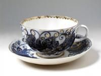 Bird Tsar Tea Cup and Saucer | Lomonosov Russia - Factory Direct from Russia