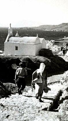 Μykonos in 1950's Greece Photography, Still Photography, Mykonos Island, Mykonos Greece, Old Time Photos, Old Pictures, Greece History, Myconos, Greeks