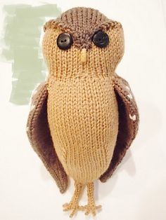 Obligatory Owl Knitting pattern by Sara Elizabeth Kellner Owl Knitting Pattern, Animal Knitting Patterns, Owl Patterns, Free Knitting, Baby Knitting, Crochet Patterns, Knitted Owl, Knitted Animals, Owl Crafts