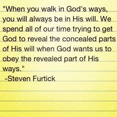 "Steven Furtick's sermon series ""God's will is whatever"".  This was first message I heard from Steven Furtick a few years ago and all I can say is WOW. RChico"