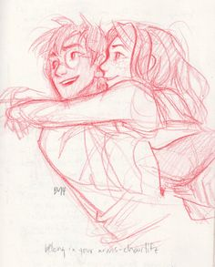 all of me, honestly, is dedicated to hold you i'll be sketching harry and ginny til i die of old age