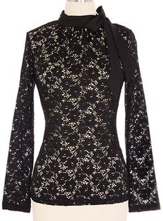 Very dark and gothy, would look great with a black skirt. Through The Darkness Lace Top at #Plasticland