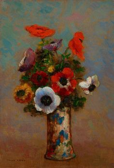 "Happy First Day of Spring! Mark your calendars for Mia's annual rite of Spring, Art in Bloom, April 27-30. In the meantime enjoy this lovely new addition to the museum's collection, ""Les Anemones (Still Life with Anemones)"" by French Symbolist painter Odilon Redon."