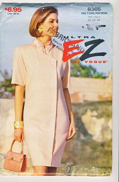 Vogue 8365 Ladies LooseFitting Dress sewing by Noahslady4Patterns, $4.75