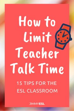Stop lecturing to your ESL students! With these tips, you can limit teacher talk time and get your students talking as much as possible in the ESL classroom. Teaching English Online, English Language Learning, Education English, Teaching Spanish, Spanish Language, French Language, Spanish Grammar, German Language, English Grammar