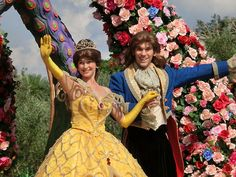 Belle and Prince Adam in Tokyo Disneyland's Jubilation parade