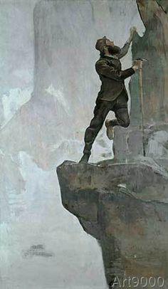 Ferdinand Hodler - Hodler / Ascent III / Painting / 1894 (61,0 x 105,0 cm)