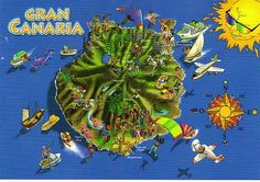 Grand Canaria, Canario, Canary Islands, Spain, Maps, Places, Canarian Islands, Sevilla Spain