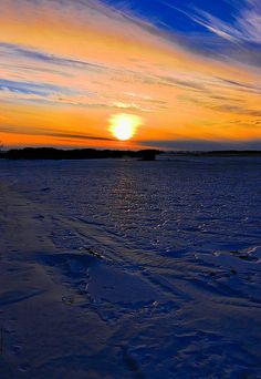 Sunset,Fire and Ice