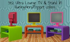 UltraLounge TV & Stand - combination of Anna/Huning/Poppet/Ikea lack colors