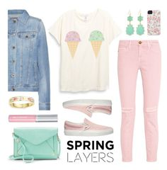 """""""Spring Layers"""" by lgb321 ❤ liked on Polyvore featuring Apt. 9, AG Adriano Goldschmied, Case-Mate, Current/Elliott, Vans, Kate Spade, Panacea, Isadora, fashionset and wardrobebasics"""