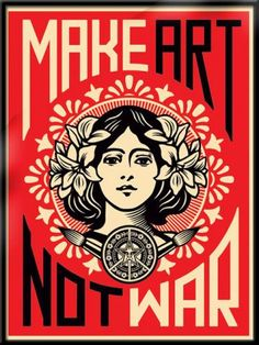 favorite Shepard Fairey. currently plastered on my college dorm wall. Plaster it on yours too.