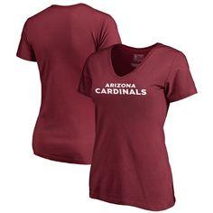 Arizona Cardinals NFL Pro Line by Fanatics Branded Women's Wordmark V-Neck Plus Size T-Shirt - Cardinal