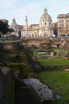Looking across Trajan's Forum towards Trajan's Column, Rome