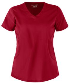 Advantage STRETCH by Butter-Soft™ 2 Pocket V-Neck Scrub Top This rounded v-neck scrub top is made with a comfortable, soft fabric and remains tagless for all-around comfort. Red Scrubs, Uniform Advantage, Medical Scrubs, Scrub Tops, Shades Of Red, Soft Fabrics, Stretches, V Neck, Pocket