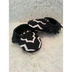 Baby Moccasins..Black & White Moccassins..Tuxedo Moccasins..unisex moccasin..Leather Moccasin.. on Etsy, $45.65 CAD