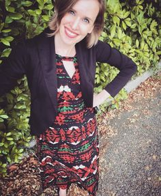 Me Made May, day 2. Get used to it, people. Butterick 6168 dress and McCall's 7254 cardi. #mmmay16 #sewing #memademay #imakemyownclothes