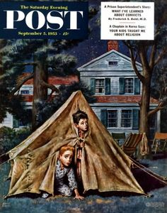 Backyard Campers – Amos Sewell A bump in the night is never welcome when all you have are tent flaps for defense. And a few ghost stories too many can render the most innocuous cicada chirp into a sinister bogey-beast on the prowl.