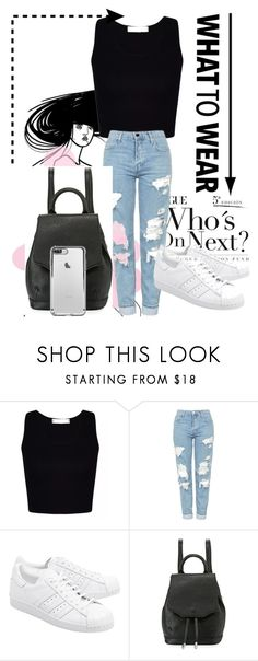 """What to wear"" by officialajaxxx ❤ liked on Polyvore featuring beauty, Topshop, adidas Originals and rag & bone"