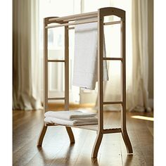 Wooden hand towel stand