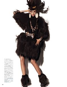 Fur Regal Reasons | Kendra Spears | Giampaolo Sgura #photography | Vogue Japan December 2012