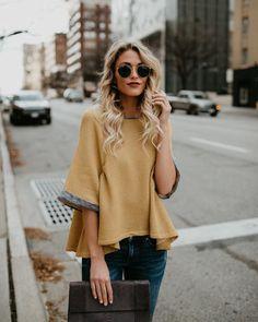Ralphie Cotton Knit Top - Mustard – VICI