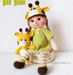 Описание вязания крючком куколки Зои