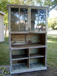 A hutch made from all the scrapes of our remodel from our 1903 house