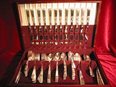 Oneida Morning Star Silverplate Dinner Set & Chest Community Flatware 104 pc Lot #OneidaCommunity