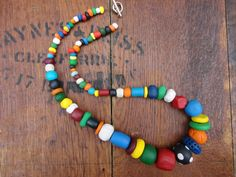 Bold and bright polymer necklace like a kaleidoscope of colour