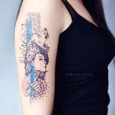 Resultado de imagen para wolf girl tattoo significado