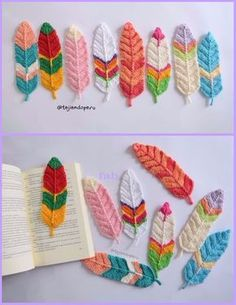 Crochet Reversible Feathers Free Pattern Tutorial-Video