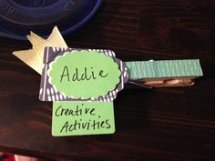 MOPS first meeting craft-- clothespin name tags!
