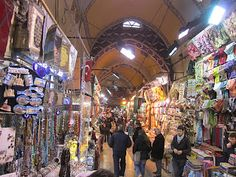 Grand Bazaar; one of the largest and oldest covered markets in the world with over 4,000 shops and 58 streets. Turkey
