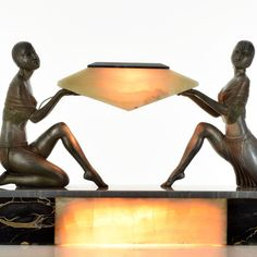 ENRIQUE MOLINS-BALLESTE. Enrique Molins-Balleste. LADY DANCER. one lamp in the marble lampshade and one lamp in the marble base. France, ca, 1930s. THIS SUPERB LIGHT SCULPTURE IS A MUST HAVE FOR ART DECO LOVERS. | eBay!