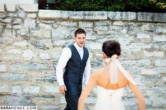 groom's reaction!