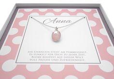 Namensketten - 925 Silber Kette ♥ Stern, Rosenquarz, Taufkette - ein Designerstück von Bloomgart bei DaWanda