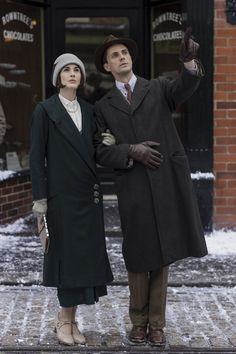 Pin for Later: See Every Last Look From the Final Season of Downton Abbey Episode Nine Streetwear for Lady Mary and Henry is as elegant as ever.