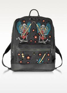 Arizona Broderie Elephant Gray Canvas Backpack - Zadig   Voltaire Mochila  De Lona 5727de110ae