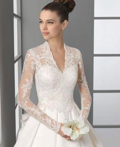 Bovenzijde trouwjurk met lange mouwen