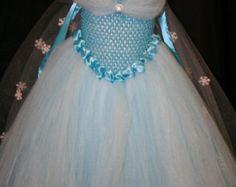 Traje de congelados de Elsa Costume de vestido de por partiesandfun