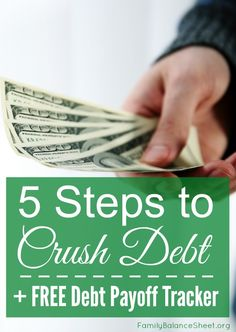 If you have a goal to pay down debt this year, check out this helpful article on 5 steps to crush debt in 2016. You can also download a free printable debt payoff tracker.